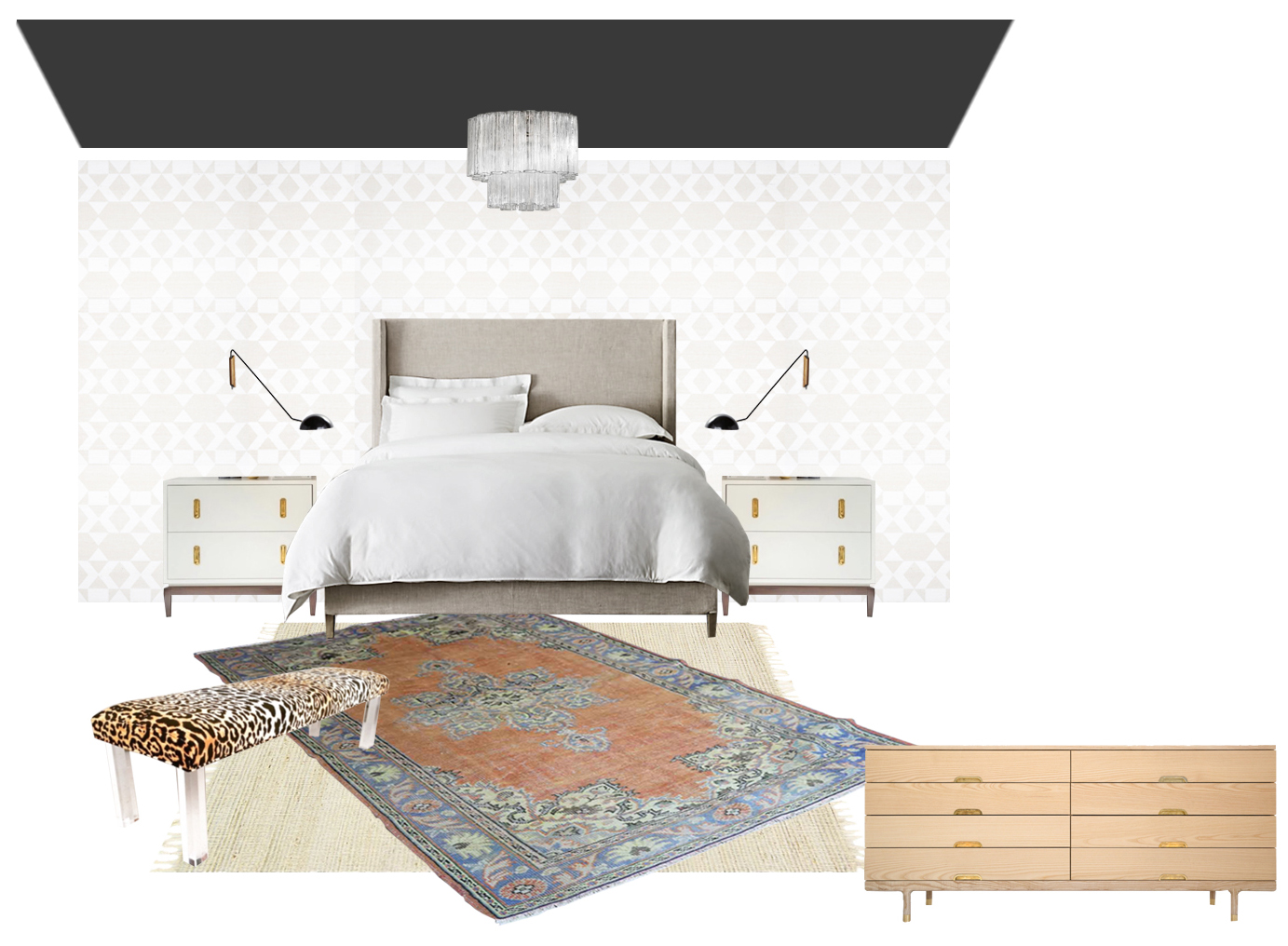 layered rug design board